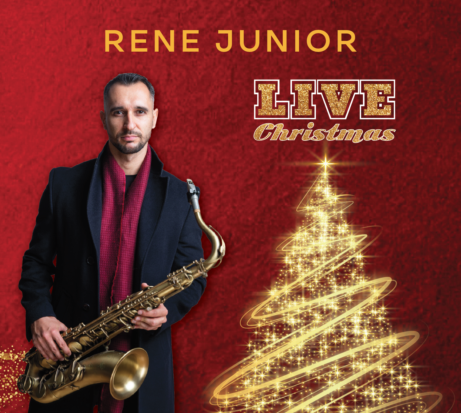 Rene Junior - LIVE Christmas CD + hrnek + šála